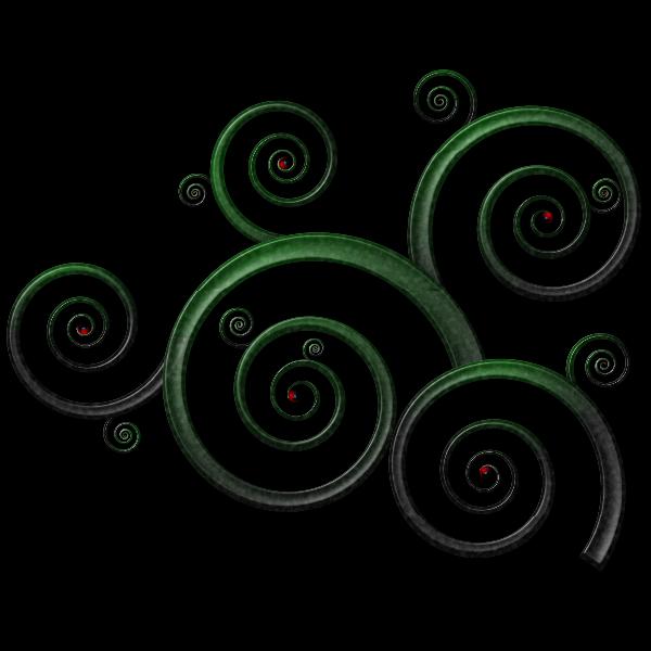 Wavy spiral pattern vector drawing