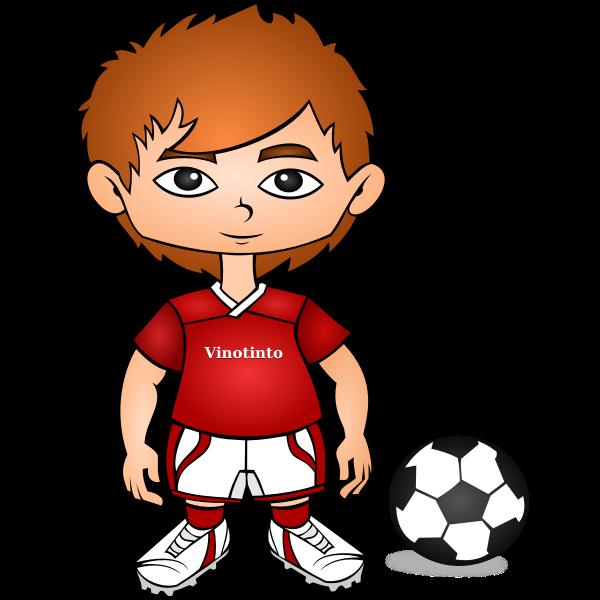 Vector illustration of cartoon soccer player