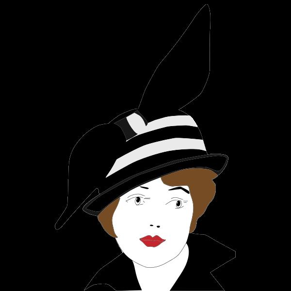Vintage 1920s woman