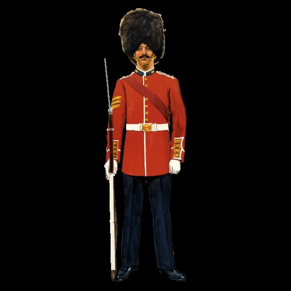 Vector graphics of vintage British soldier