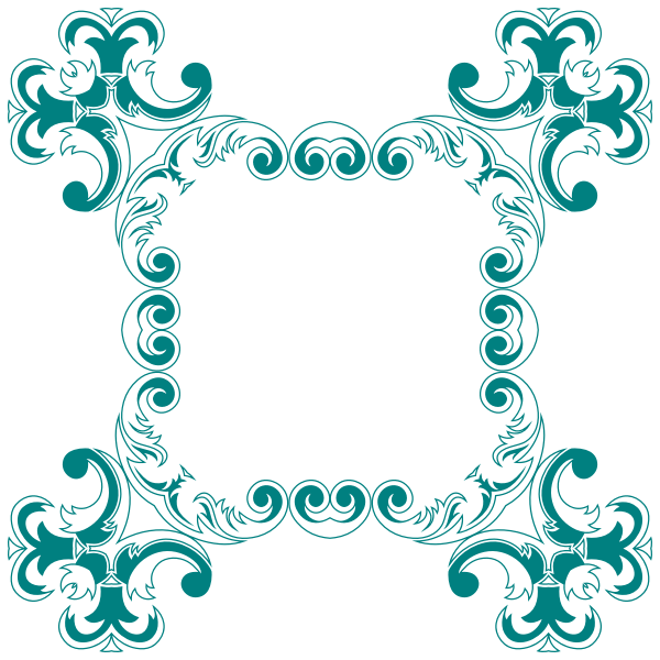Green square flowery border