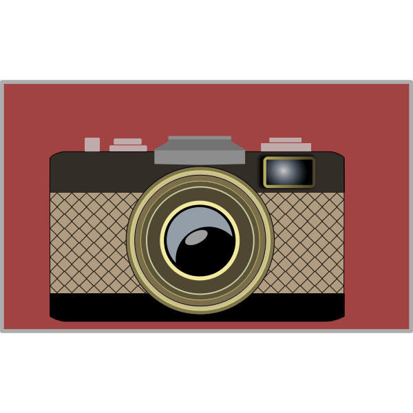 Vector image of classic stroke camera