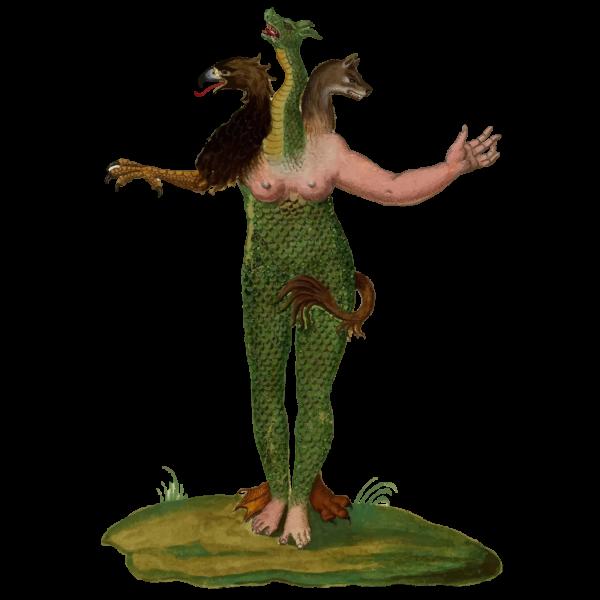 Vintage Mythical Monster Illustration 3