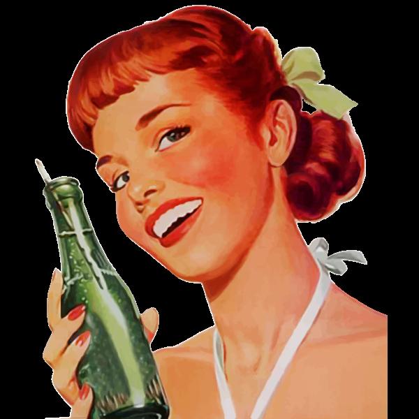Vintage Soda Girl