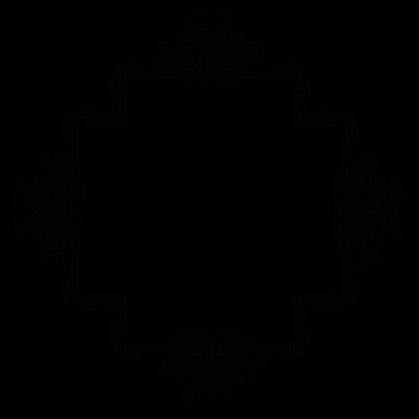 Vintage symmetric ornamental frame