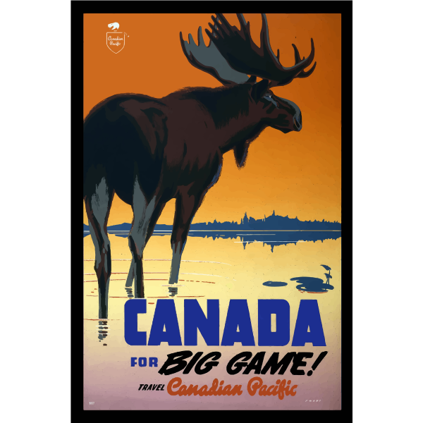 Travel poster of Canada