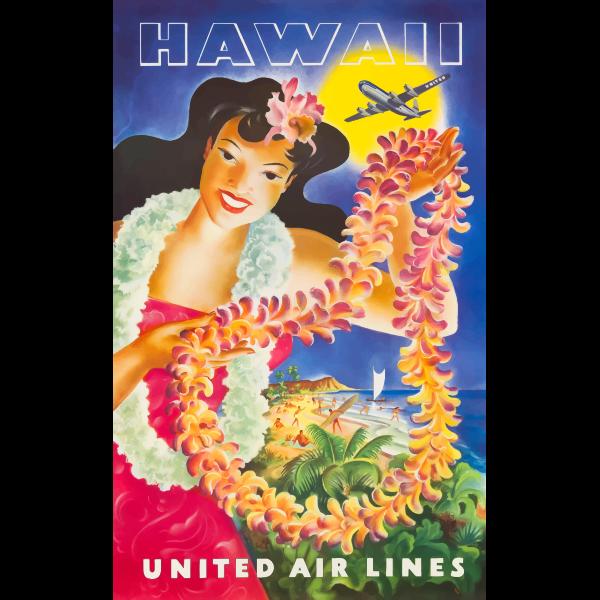 Hawaiian tourism poster