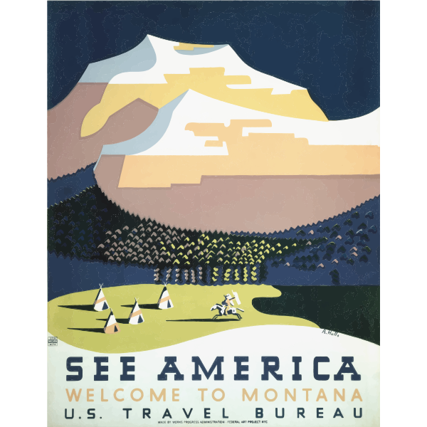 Vintage ad of Montana