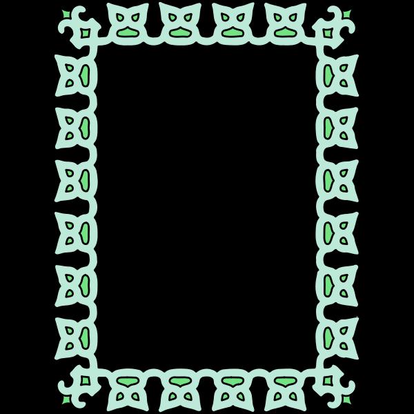 Vintage Frame Green Color