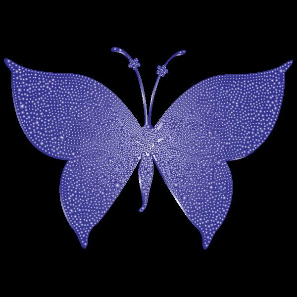 Violet Tiled Butterfly