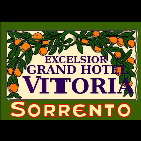 Hotel sticker vector image