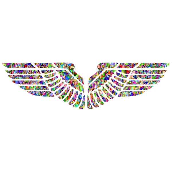 Vivid Polychromatic Eagle Wings
