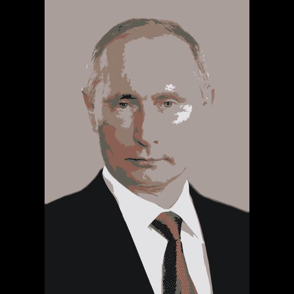 Vladimir Putin portrait vector clip art