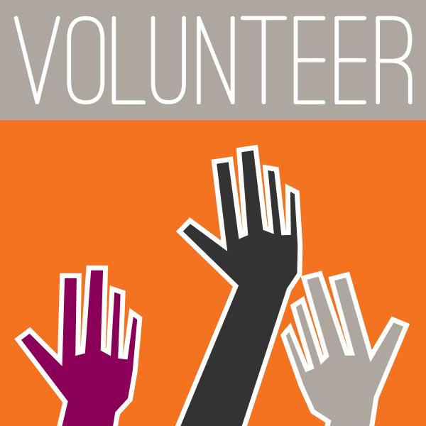 Vector clip art of volunteering sign