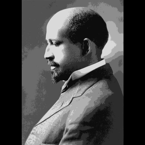W. E. B. Du Bois portrait painging vector image