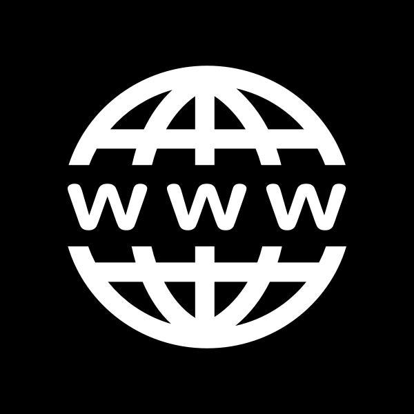WWW Icon White on Black