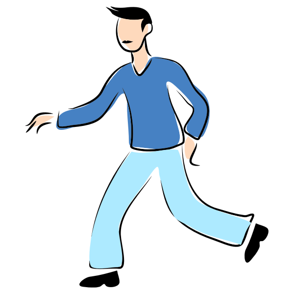 Walking man image