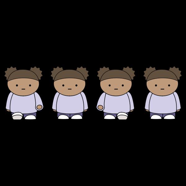 Walking Girl 2 Sprite Sheet Animation
