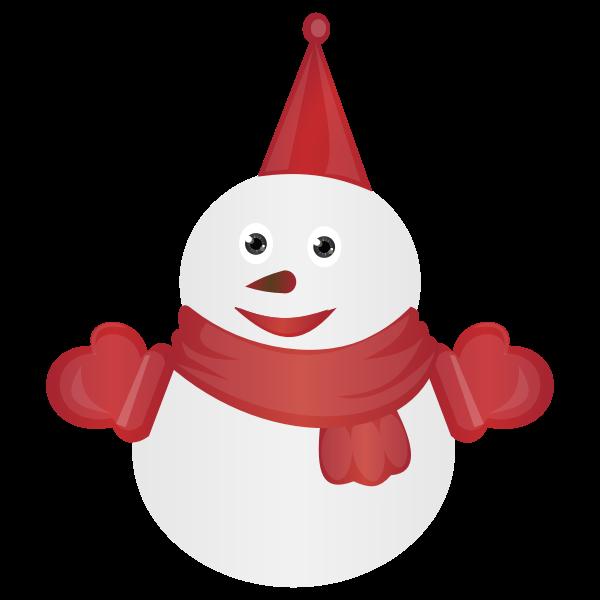 Dressed snowman