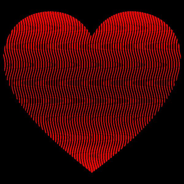 Wavy Heart Line Art