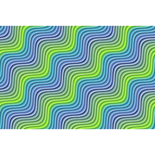 Wavy background in green and blue