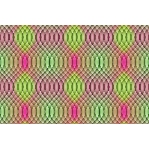 Overlapping green and pink colors