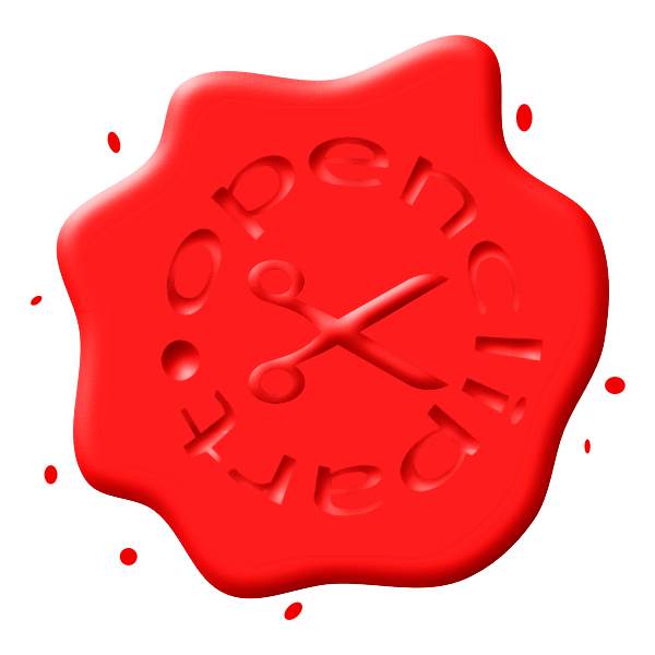 Red wax seal image