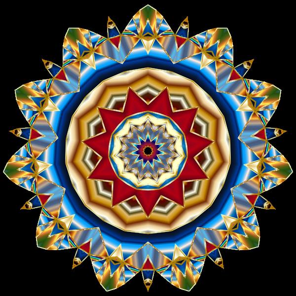 Chromatic mandala vector image