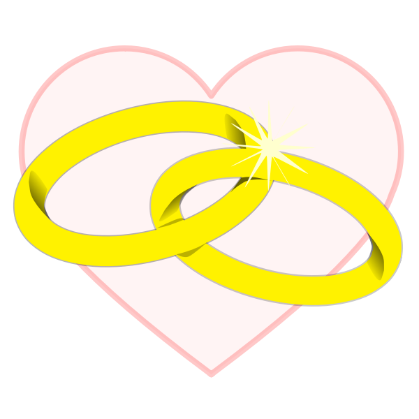 Heart and wedding rings