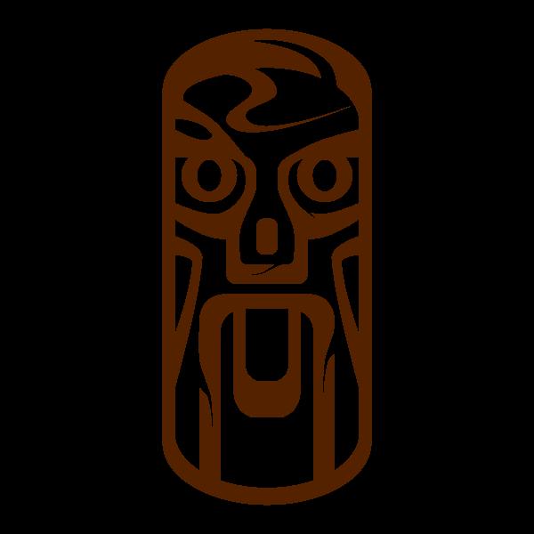 Tiki statue vector image