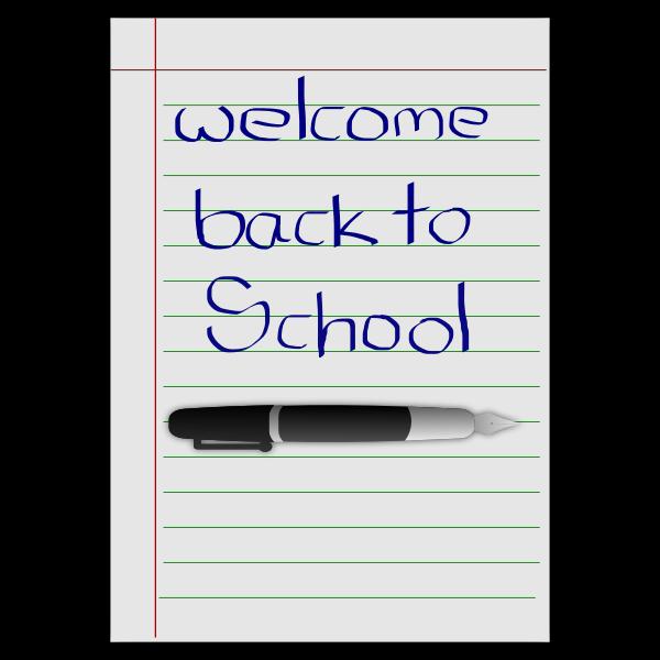 School stationery vector graphics