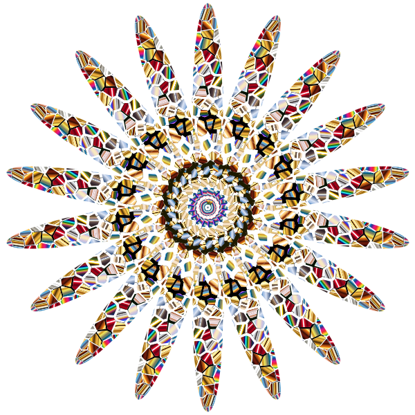 Spirograph with decorative pattern