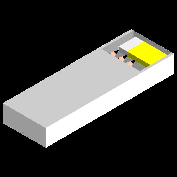 White pencil case