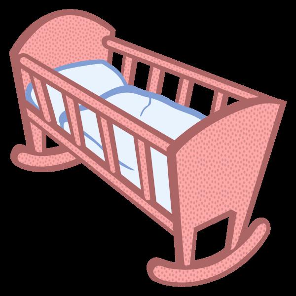 Baby cradle vector