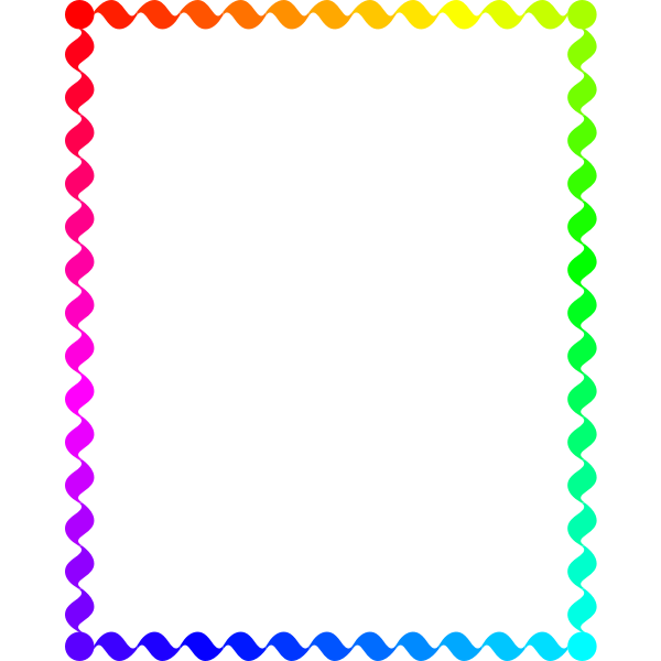 Wiggly Frame Rainbow Color
