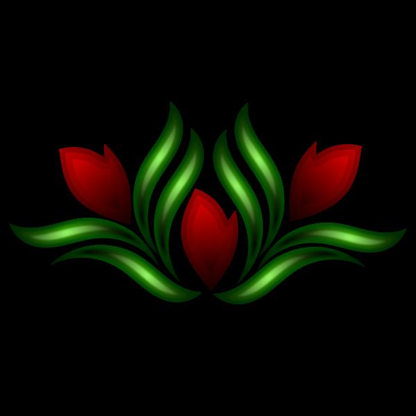 Wild flower motif vector illustration