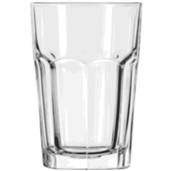 Vector illustration of beverage see through glass