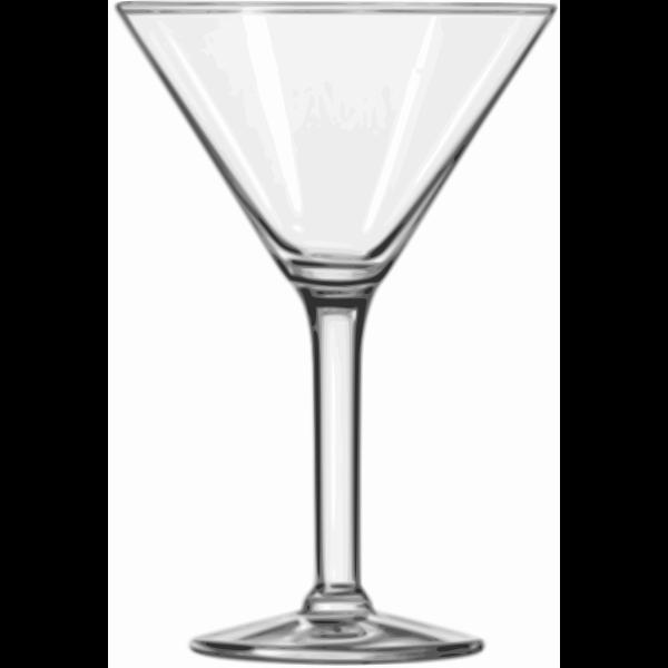 Vector clip art of martini glass