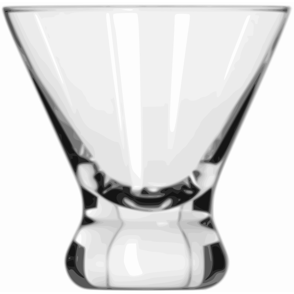 Cosmopolitan cocktail glass vector image
