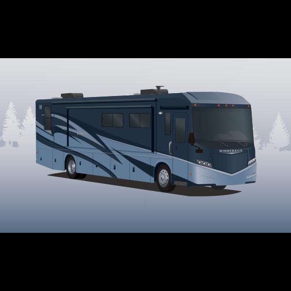 Winnebago bus vector drawing