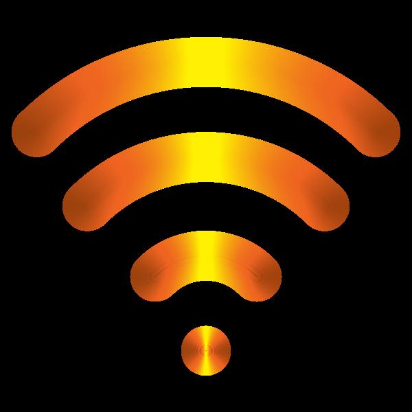 Yellow wireless icon
