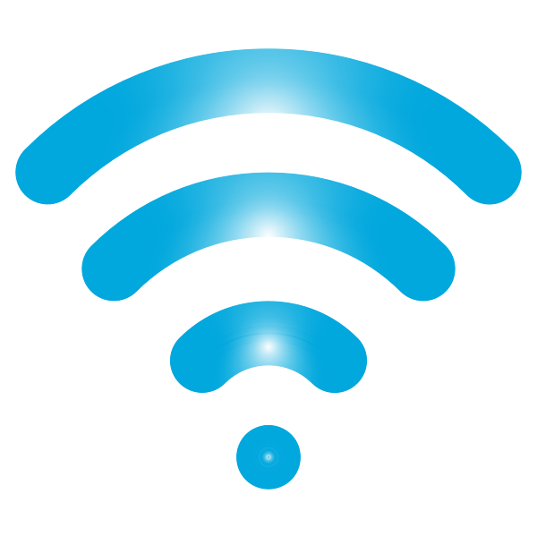 Blue wireless signal