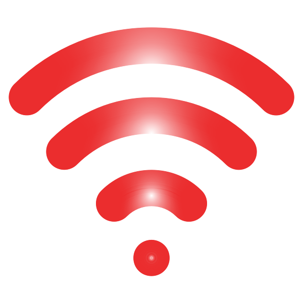 Red wireless signal