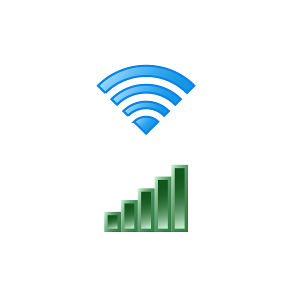 Wi-Fi icons set vector illustration