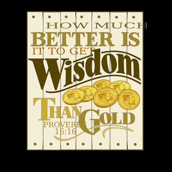 Wisdom Proverbs 16 vector