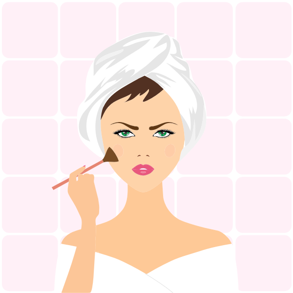 Image of woman applying makeup