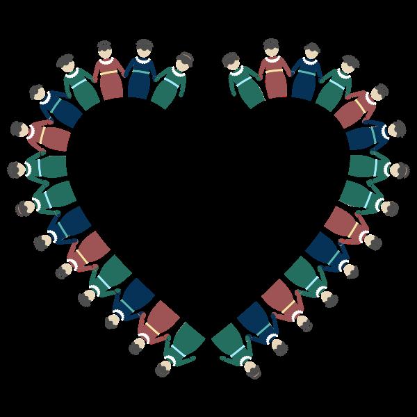 Women Holding Hands Heart