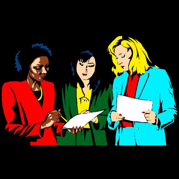 Women working in team