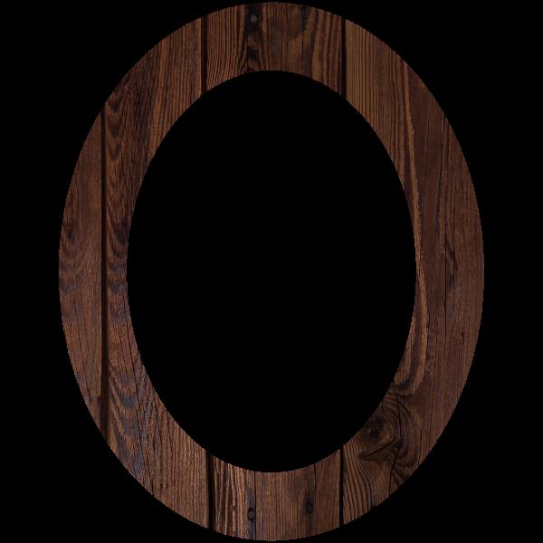 Wood Frame Circular Shape