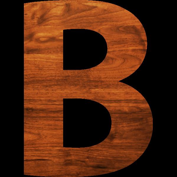 Wood texture alphabet B